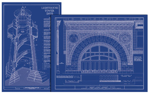 Old Blueprints Iconic Architectural Moments