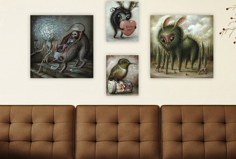 Eclectic Prints on Canvas