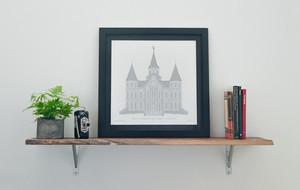 Letterpressed Architecture Prints
