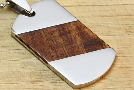 Koa Wood + Metal Jewelry