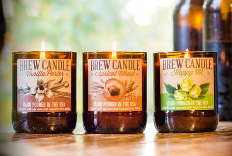 Beer-Scented Candles