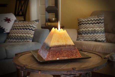 Crystal Pyramid Candles