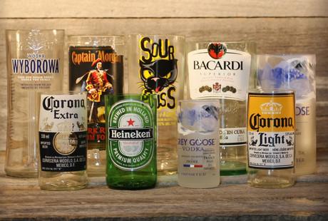 DIY Bottle Glasses