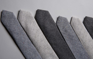 Understated Wool + Chambray Ties