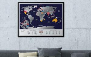 Scratch Foil World Maps