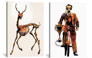 Colorfully Macabre Canvases