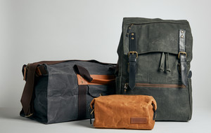 Waxed Canvas and Leather Bags