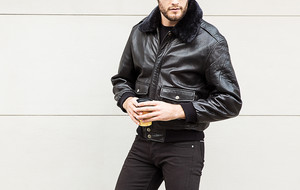 Opulent Leather Outerwear