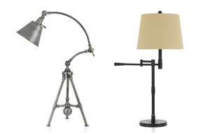 Desk + Floor Lamps