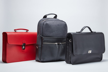 Tech-Infused Leather Bags