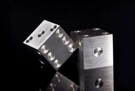 Solid Metal Dice