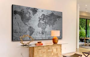 Brushed Aluminum and Natural Wood Maps