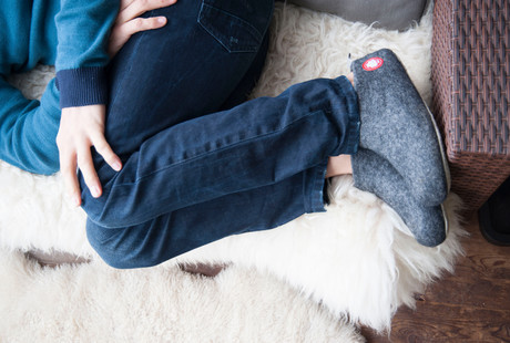 Ethically Hand-Made Wool Slippers