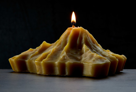 Volcano Shaped Candles