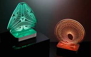Aroma-Diffusing 3D Illusion Lamps