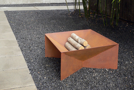 Geometric Outdoor Fire Pits