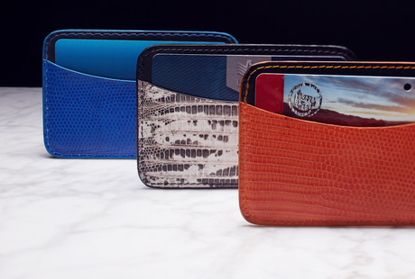 Exotic Leather Wallets + Card Cases