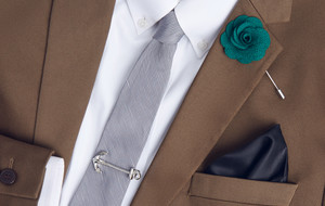 Luxe Tie Clips + Lapel Pins