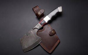 Damascus Steel Knives + Blades