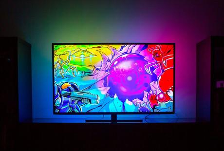 Responsive LED Television Backlighting
