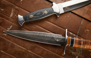 Damascus & D2 Push Daggers