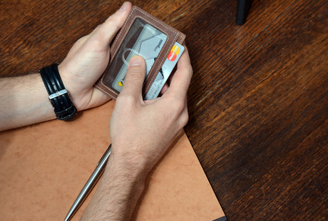Slim RFID-Blocking Leather Wallets