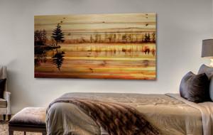 Summer-Inspired Art on Wood