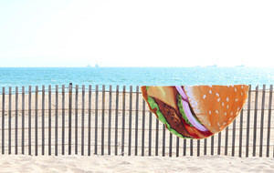 Audacious Round Beach Towels
