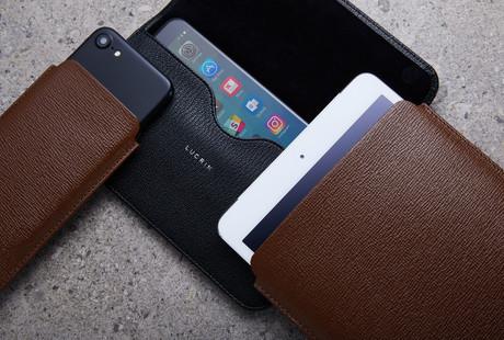 Premium Leather iPad + iPhone Cases