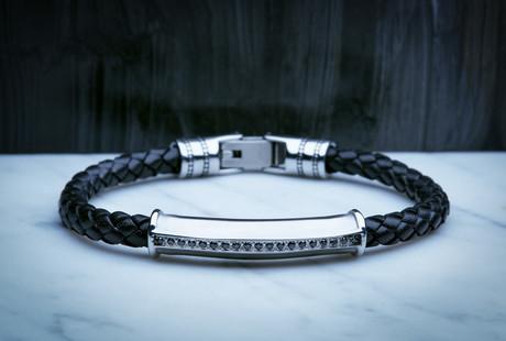 Leather + Steel Urban Bracelets