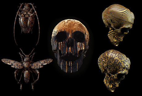 Macabre Art on Canvas + Metal