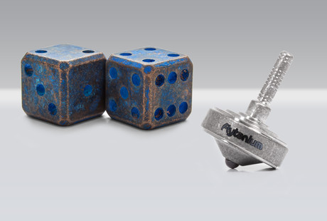 Dice + Tops, Forged from Metal