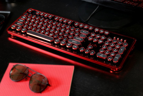 The Typewriter-Inspired Mechanical Keyboard