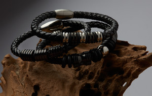 Leather + Steel Jewelry