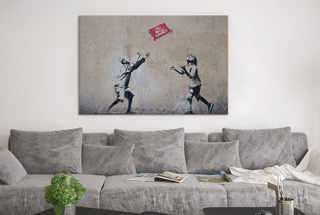 Incendiary Street Art On Canvas