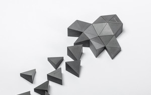 Sculptural Concrete Prisms