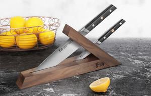Minimalist Cutting Block + Chef's Knives