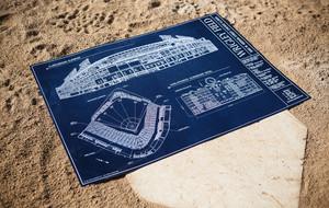 Ballpark blueprints the art of ballpark architecture touch of modern ballpark blueprints malvernweather Choice Image