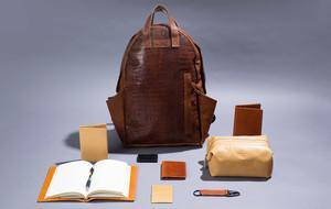 Leather Wallets, Belts, + Backpacks