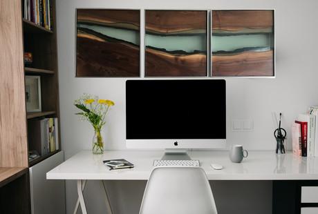 Glass + Wood Triptychs