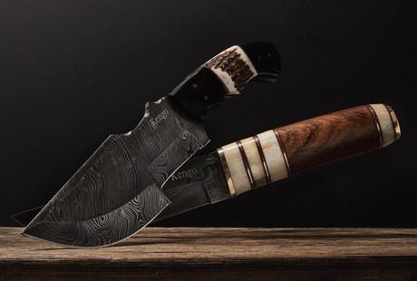 Damascus Straight Blades