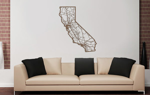 Laser-Cut Wood State Maps
