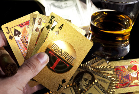 Gold + Platinum Plated Playing Cards