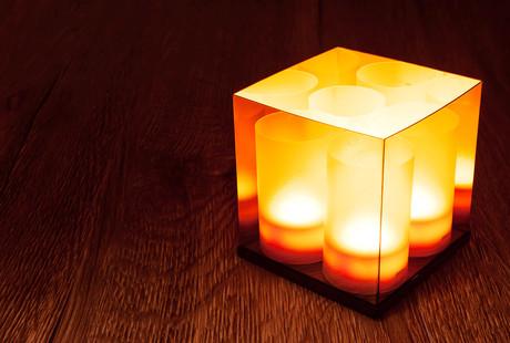 Waterproof Tea Light LED + Charging Base