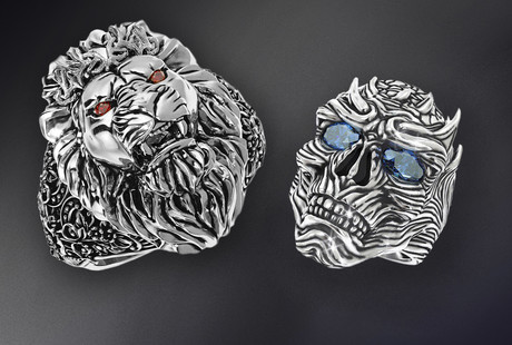Sculpted Rings, Cufflinks, & Pendants