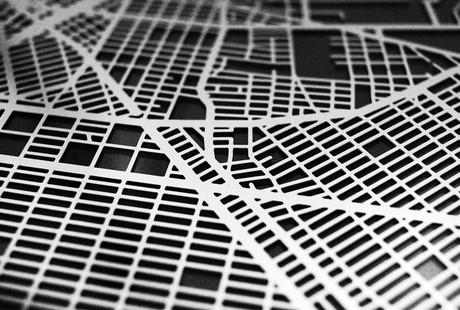 Laser-Cut 3D Street Maps