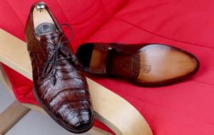 Handcrafted Exotic Leather Shoes + Belts