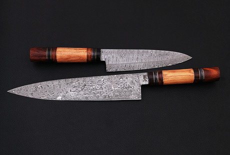 Damascus & Carbon Steel Kitchen Knives