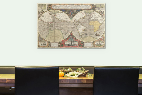 Old World Maps With Modern Style