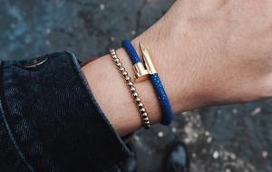 Leather + Metal Nail Jewelry